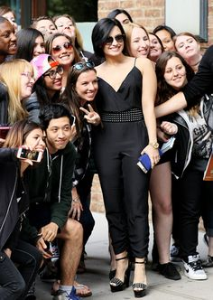 demi lovato with fans