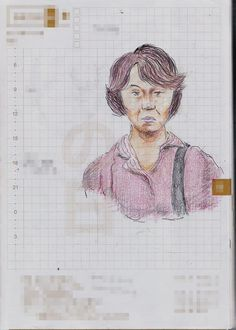 A woman I saw in the commuter train. 『彫りの深い人』