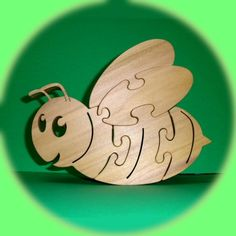 Bumble Bee puzzle - A Fun Wood Puzzle Game - Educational - Hand Made - Child Safe
