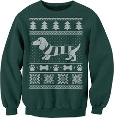 Dachshund Sweater 001 - Weenie Dog Christmas Sweater Party - Sweat Shirt