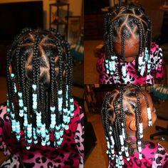Box Braids Hairstyles, Lil Girl Hairstyles, Black Kids Hairstyles, Natural Hairstyles For Kids, Kids Braided Hairstyles, Natural Hair Styles, Teenage Hairstyles, Hairstyles 2018, Little Girl Braid Styles