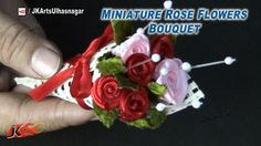 DIY Miniature Rose Flowers bouquet for Valentine's Rose Day | How to mak...