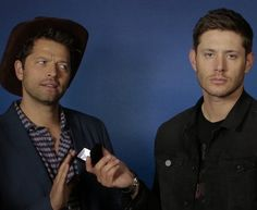 Misha and Jensen probably someones photo op.. The things these guys do for fans...