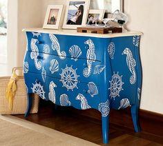 Pottery Barn nautical dresser