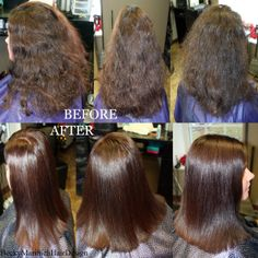 Kenra Smooth and Color Retouch! Completely transformed this thick coarse unruly hair into a manageable soft sleek style with versatility!