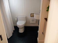FAQ: What's it like having a black bathroom floor? ... not that I want black, but what its like having a dark floor (says all ok!)