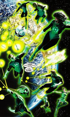 The Green Lantern Corps (Justice #12, August 2007) - Alex Ross