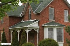 This brick farmhouse was built in 1892 after the previous Langmaid farmhouse burned down. It was originally located on Kathleen Street where it joins Dundas Street East. In 1995 the house was moved to Cullen Gardens. Whitby, Ontario. Abandoned Houses.