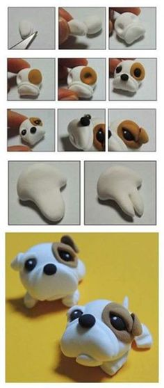 air dry clay, self-hardening clay, tutorials, how to, craft Fimo Polymer Clay, Diy Fimo, Crea Fimo, Polymer Clay Animals, Polymer Clay Projects, Polymer Clay Creations, Clay Crafts, Decors Pate A Sucre, Fondant Animals