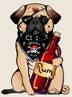 Pug pirata