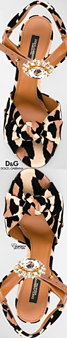 #dolceandgabbana Dolce & Gabbana #leopard Leopard #embellished #sandal #eleganzadiria Eleganza di Ria