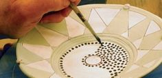 Decorating Low Fire Pottery with slips, underglazes and lusters article from Ceramics Art Daily