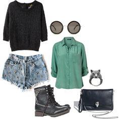 Shorts, camisa, botines,