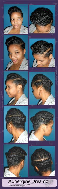 Two-Strand Twists with Flat Twisted Back | Aubergine Dreamz | tamzlavender.blogspot.com