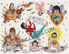Image of Bob's Burgers Tattoo Flash