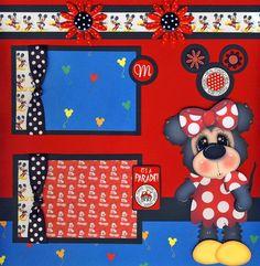 Disney 2 Premade Scrapbook Pages Vacation 4 Album Scrapbooking by Cherry | eBay