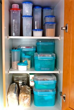 Using containers to organize your kitchen.