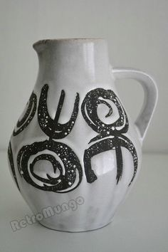 Vintage West German pitcher vase by Jasba by RetroMungo on Etsy
