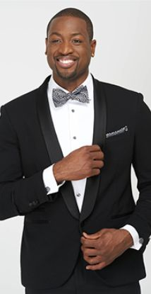 Dwyane Wade wearing the Dali's Paisley bow tie and pocket square from the Dwyane Wade for The Tie Bar line, www.TheTieBar.com