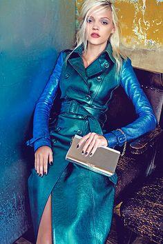 Lara Jade Photography, Marina Streb for Guardian Fashion, Burberry coat. Metal Fashion, Blue Fashion, New York Fashion, Leather Fashion, Fashion News, Spring Fashion, Fashion Trends, Burberry Coat, Burberry Prorsum