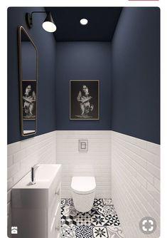 93 Cool Black And White Bathroom Design Ideas oneonroom - Wohnkultur // Badezimmer im Erdgeschoss - Bathroom Decor Downstairs Bathroom, Bathroom Small, Master Bathroom, Bathroom Black, Cool Bathroom Ideas, Cloakroom Ideas, Mosaic Bathroom, Bathroom Mirrors, Bathroom Lighting