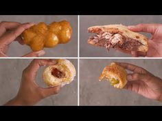 All you need is 2 ingredients – yoghurt and flour – to make the dough for these 4 DELICIOUS sweet treats! Donut Recipes, Baking Recipes, Cream Donut Recipe, Sweet Dough, Dessert Pizza, South African Recipes, School Treats, Recipe Videos, 2 Ingredients