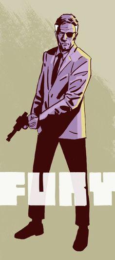 Nick Fury (by Michael Walsh) Marvel Dc Comics, Marvel Heroes, Comic Books Art, Comic Art, Secret Warriors, Nick Fury, Punisher, Comic Character, Pose Reference