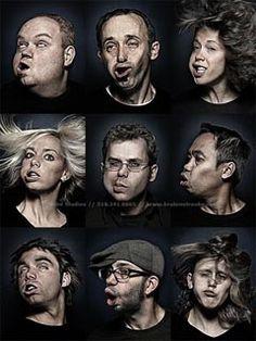 Upside-Downey Face Photographs. Brandon Voges snaps eerie portraits of people suspended upside-down.