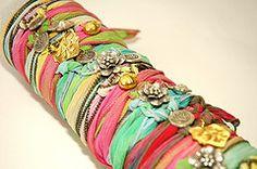 silk wrap bracelets..