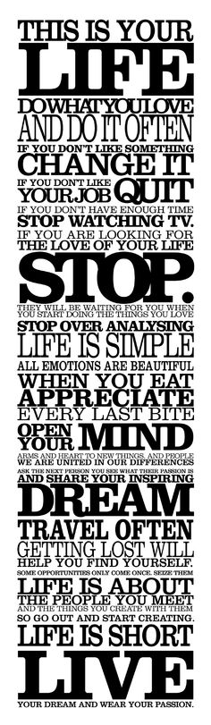 Typography Poster - love the design