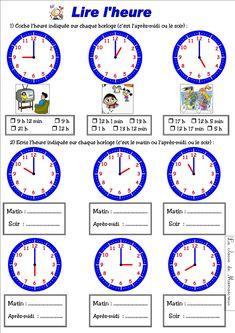 Apprendre à lire l'heure n'est pas toujours facile ! lire_l_heure lire_heure_2 Voici l'évaluation : ...
