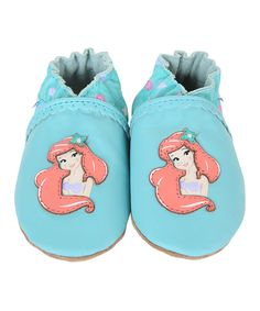 Another great find on #zulily! Angel Blue Disney Baby Ariel Leather Booties by Robeez #zulilyfinds