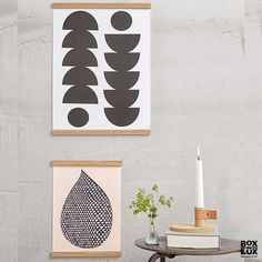 Wall Sticks ramme fra By Wirth - Natur 50 cm.