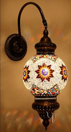 Mosaic Wall Lamp - for the garden of the Nook?