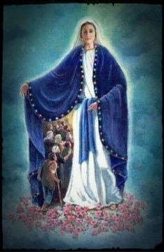 Art Photography O Blessed Virgin Mary, Protect us under thy blue mantle. Catholic Prayers, Catholic Art, Catholic Saints, Religious Art, Blessed Mother Mary, Blessed Virgin Mary, Image Jesus, Catholic Pictures, Images Of Mary