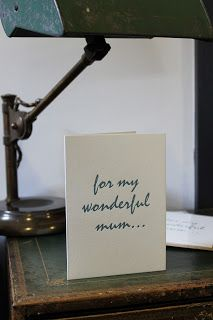 Letterpress card printed on our antique press on cotton paper