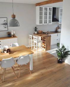 Decoration Appartement - Bright Idea - Home, Room, Furniture and Garden Design Ideas Home Decor Kitchen, Interior Design Kitchen, Home Kitchens, Kitchen Ideas, Kitchen Inspiration, Kitchen Layout, Kitchen Designs, Small Kitchen Plans, Eclectic Kitchen