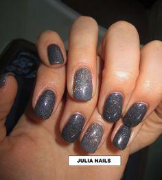ONGLES EN GEL COULEUR et GLITTERS *JULIA NAILS *