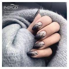 Nail Art Designs, Black Nail Designs, Nail Shapes Squoval, Nails Shape, Black Ombre Nails, Brown Nail, Black Manicure, Black Nail Art, Nail Manicure