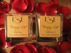 Natural soy wax candles Burning Love, sandalwood and ylang ylang ..  Created for your sensual and romantic Valentines Day: their fragrances