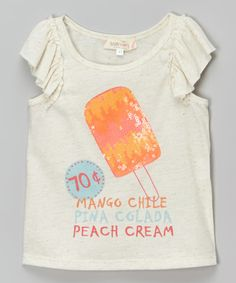 Look what I found on #zulily! Ivory 'Mango Chile' Angel-Sleeve Tee - Infant, Toddler & Girls #zulilyfinds