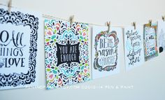 Graduation Gift  Be the Best You Mini Print Set of by penandpaint, $16.00