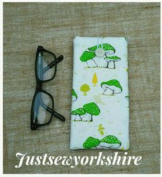 Check out this item in my Etsy shop https://www.etsy.com/uk/listing/517556958/mushroom-toadstool-glasses-case-cotton
