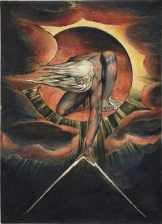 Ancient of Days - William Blake - my idea of God, God as geometer!