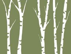 Tree silhouette painting templates ideas for 2019 Birch Tree Mural, Birch Tree Decor, Silhouette Painting, Tree Silhouette, Silhouette Cameo, Silhouette Projects, Tree Outline, Tree Stencil, Stencils