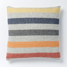 Faribault Candy Stripe Wool Pillow Cover | west elm