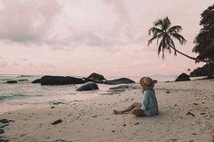 Seychellen, Silhouette Island Silhouette, Island, Instagram, Pink Sunset, Seychelles, Places, Nice Asses, Islands