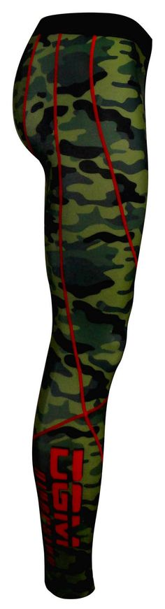 LONG- SEMI-LINED (FRONT & BACK) COMPRESSION LEGGING - DIGITALLY PRINTED ELASTICATED WAISTBAND WITH INNER DRAWCORD ELASTICATED LEG HEMS FABRIC: 230g POLY SP