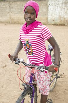 Look Ma, new wheels! 🚲 Fakhane, 16, lives nearly 2 miles from her school in #Senegal – but with her new bike, that's not a problem anymore. She has time to eat, do her morning chores & study, & there's no question that she'll remain in school. #WorldBicycleDay Helping Children, Time To Eat, Wheels, Bicycle, Study, This Or That Questions, World, Day, School