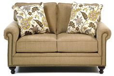 Harrison Traditional Loveseat with Nail Head Trim by Broyhill Express - Hudsons Furniture - Love Seat Tampa, St Petersburg, Orlando, Ormond Beach